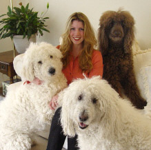 Michelle and the dogs